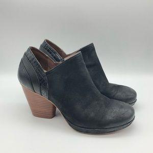 DANSKO Sz 38 'Marcia' Burnish Leather Heel Boots